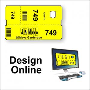 Cloakroom tickets - design online