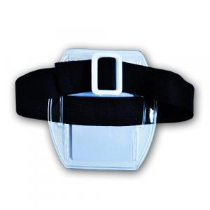 Arm pocket made of transparent PVC
