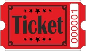 Ticket rolls - Red