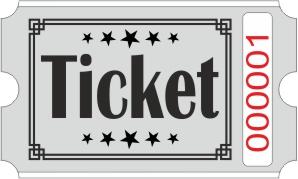 Ticket rolls - Grey