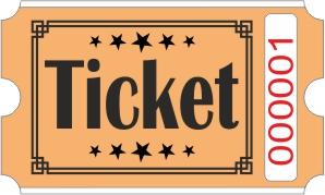 Ticket rolls - Orange