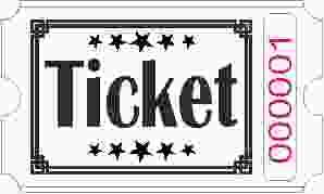 Ticket rolls - White
